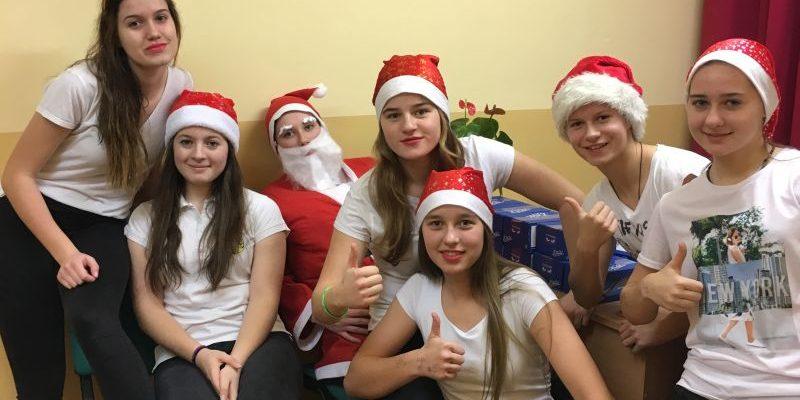 Wizyta Mikołaja w Internacie